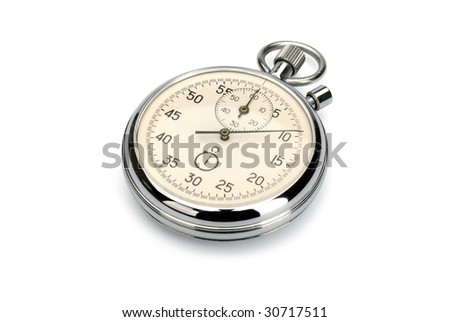 Stopwatch, isolated with clipping path