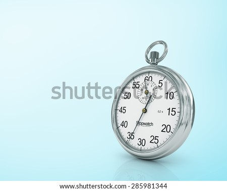 Stopwatch on blue background. Note the time.