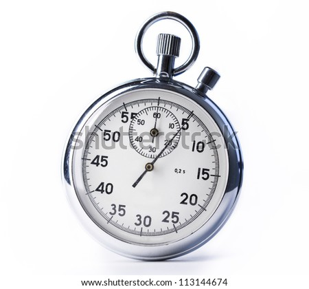 Stopwatch on the white background
