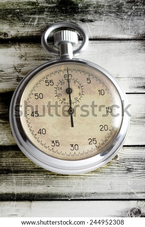stopwatch on the white background - stock photo