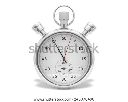Stopwatch render - stock photo