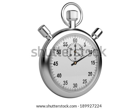 Stopwatch - time concept isolated on a white background. 3d illustration high resolution - stock photo