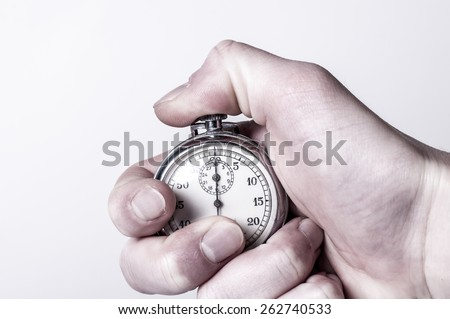 Stopwatch with pressed button