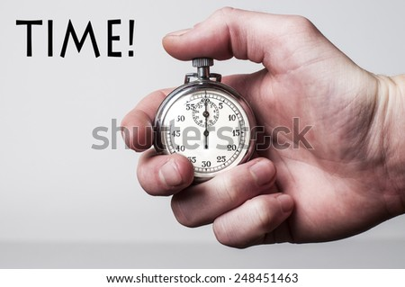 Stopwatch with text