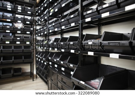 Storage Bins. - stock photo