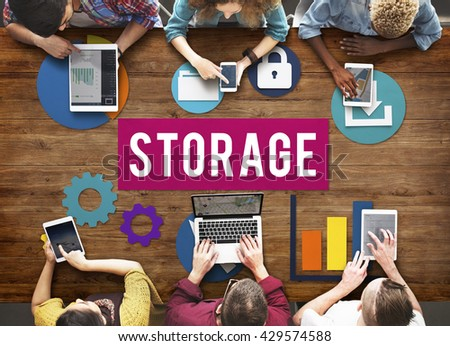 Storage Cloud Network Space Concept - stock photo