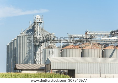 Storage facility and drying of cereals, silos and towers drying
