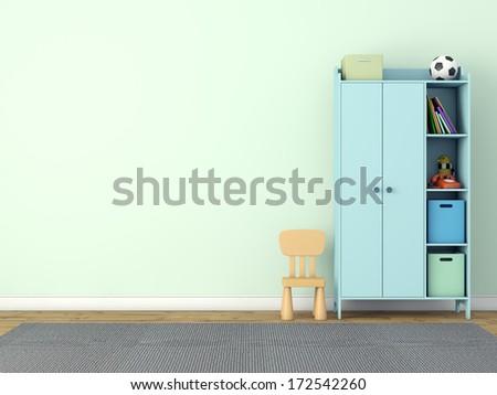 storage furniture - stock photo
