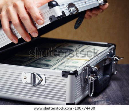 Storage money and protection of cash and valuable items. Banking concept.  - stock photo