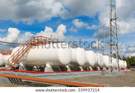 storage of gasoline in the horizontal tanks