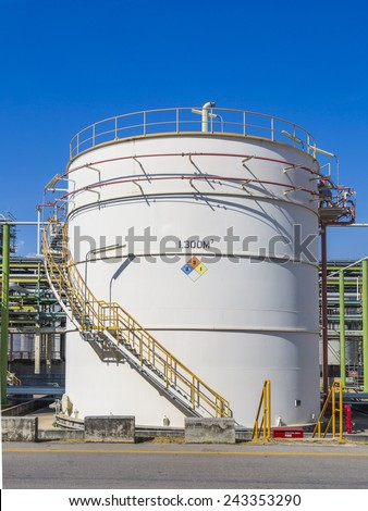 Storage tank in industrial plant - stock photo