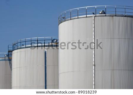 Storage tanks - stock photo