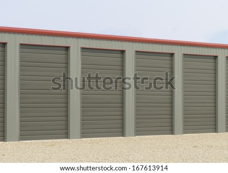 Storage units at a storage facility.