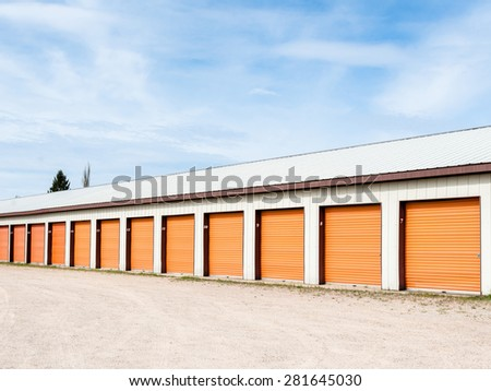 Storage units at a storage facility - stock photo
