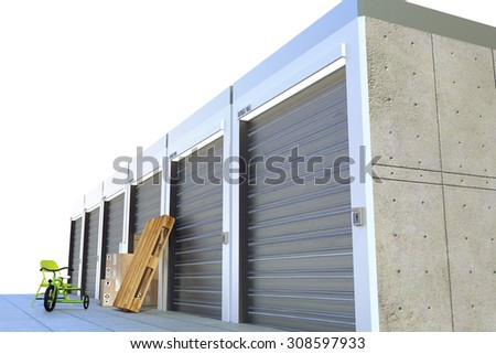 storage units isolated on white background