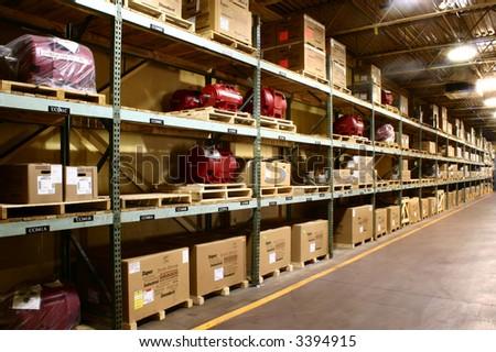 Storage Warehouse - stock photo