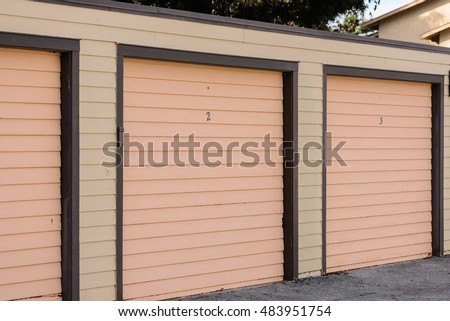 Storage warehouse facility with numbered door