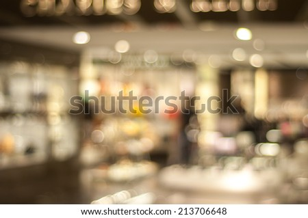 store blur background with bokeh - stock photo