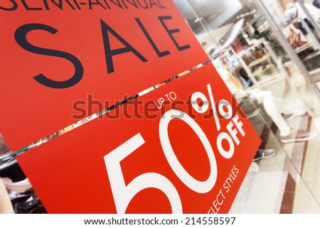 store discount sign