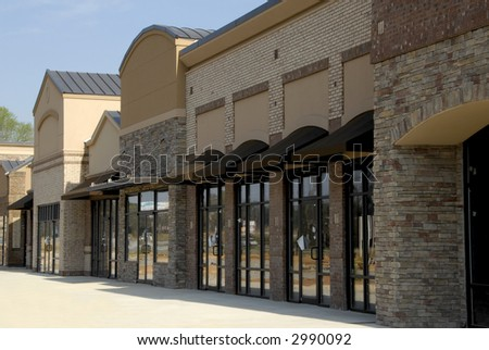 Store Fronts - stock photo