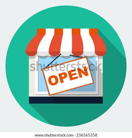 Store shop icon - stock photo