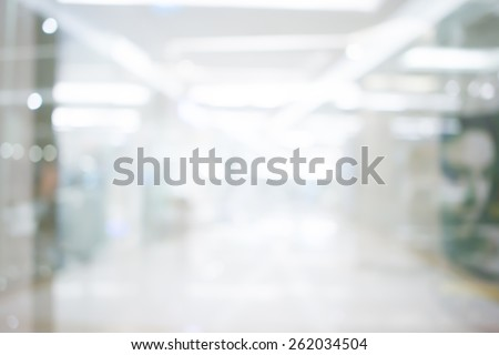 Store, shopping mall abstract defocused blurred background. - stock photo