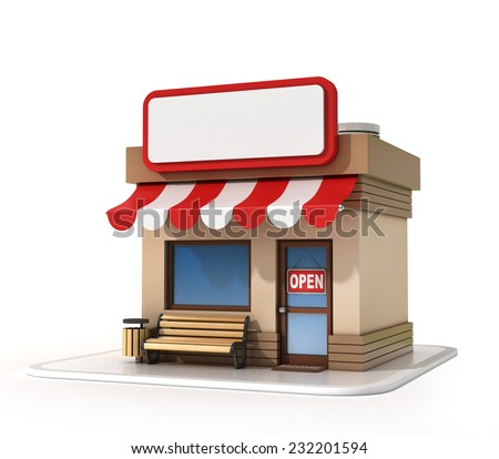 Store with copy space board