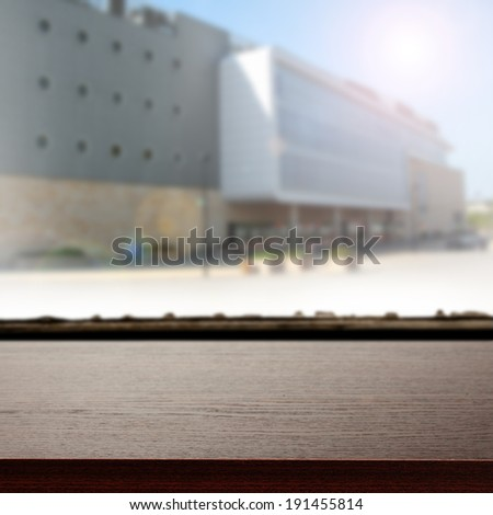 storefront and city  - stock photo