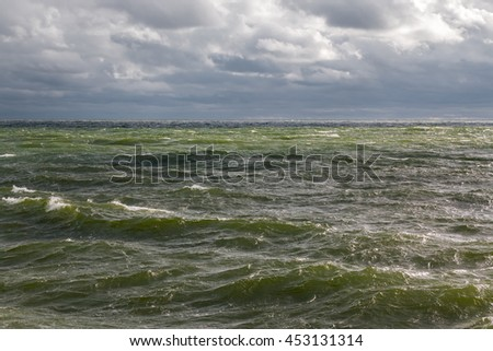 Storm at the Baltic sea - stock photo