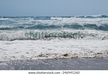 Storm at the mediterranean sea - stock photo