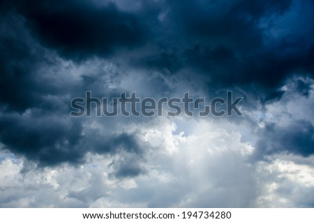 storm cloud background before rain - stock photo