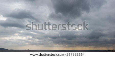 Storm clouds - stock photo