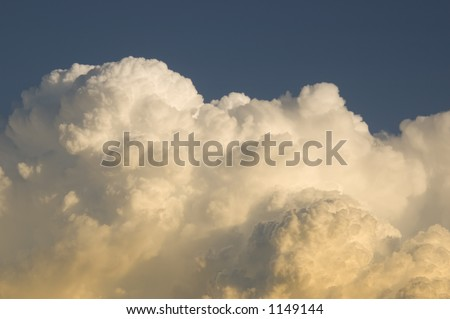 Storm clouds and blue sky horizontal