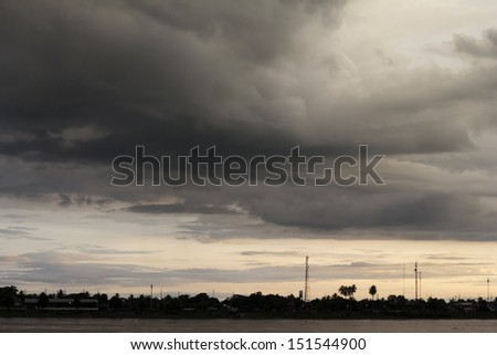 Storm clouds in the evening.