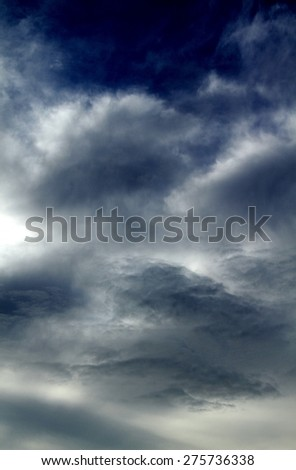 storm clouds in the sky