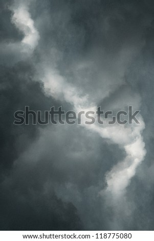 Storm dark clouds