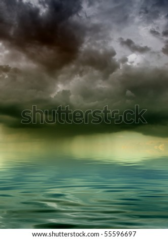 storm hanging over the sea