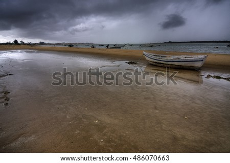 Storm in the beach