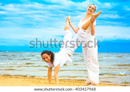 Storm is a time for fun!!! - stock photo