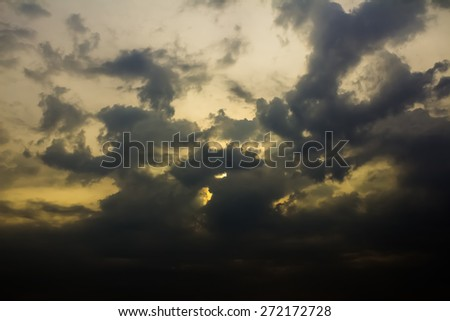 storm is coming - stock photo