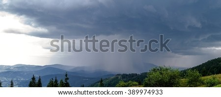 Storm on Beskidy Mountains