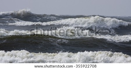 Storm on the Baltic sea - stock photo