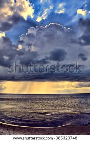 Storm on the Sea Baltic, Latvia - stock photo