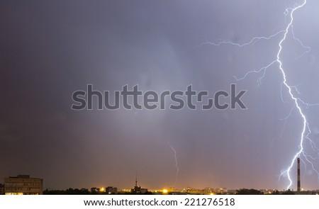 Storm sky. - stock photo