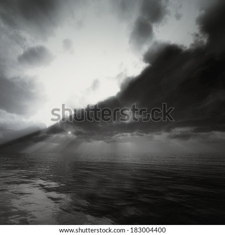 Storm sky background - stock photo
