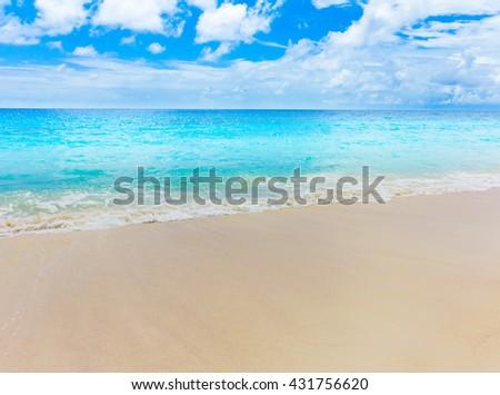 Storm Surf Beach  - stock photo