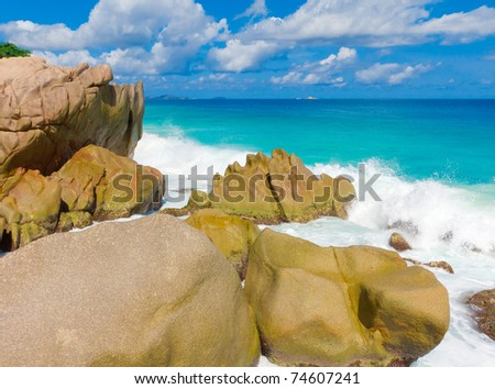 Storm Waves Exotic - stock photo