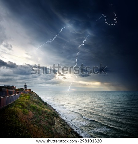 Storm waves over the Lighthouse,