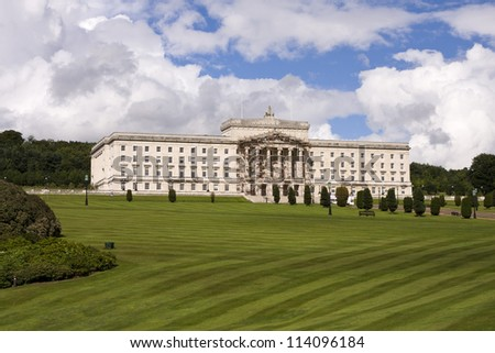 Stormont buildings , the site of the Northern Ireland Government in Belfast Northern Ireland - stock photo