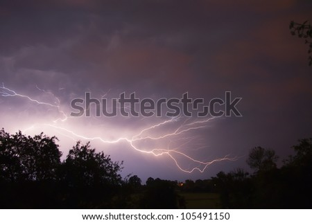 Storms and lightning - stock photo